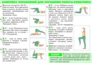 ЛФК для улучшения состояния кишечника. ЛФК при болезнях ЖКТ