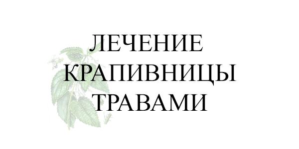 Лечение крапивницы травами