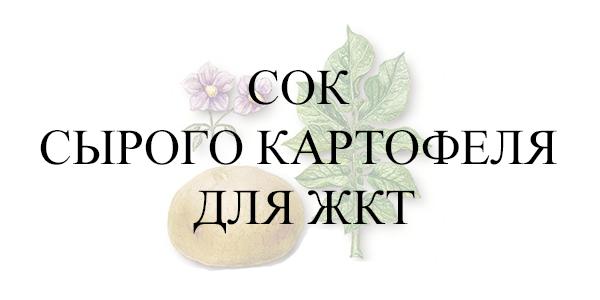 Сок сырого картофеля для ЖКТ